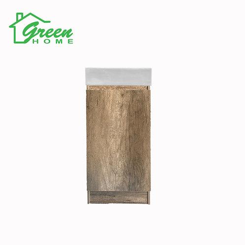 Floor Standing Vanity With White Ceramic Basin W400mm GHOL-Wood