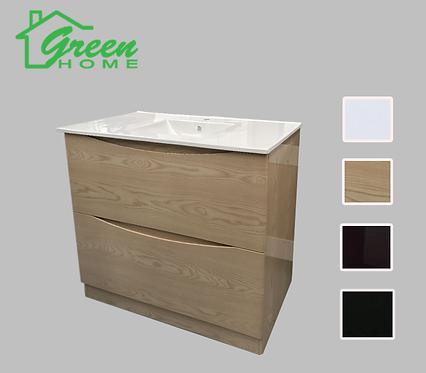 Wood Color Vanity 750mm wide Floor Standing