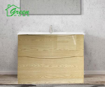 Double Drawers Floor Standing Vanity 1200S - Single Basin - Log
