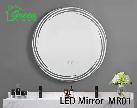 R600 Round LED Mirror - Artistic & Fashioned Design - MR01