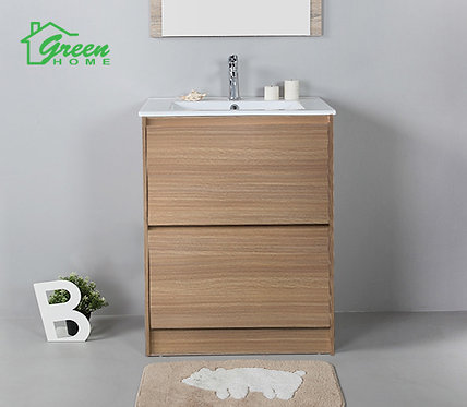 Floor Standing Plywood Vanity With Ceramic Basin W600/ 750/ 900/ 1200S/ 1200D