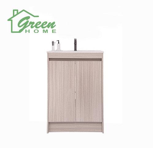 Floor Standing Plywood Vanity- W600- Washed Oak