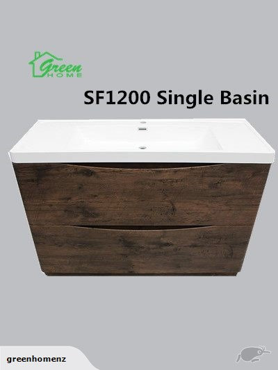 Floor Standing vanity 1200mm wide single basin