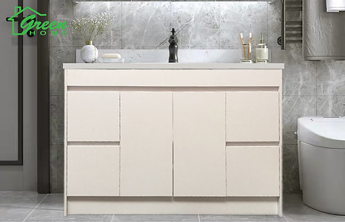 Floor Standing Plywood Vanity-W1200mm- White #GHF-1200