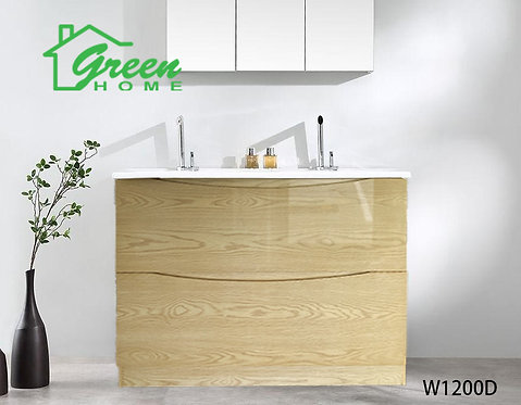 Double Drawers Floor Standing Vanity 1200D - Double Basin - Log