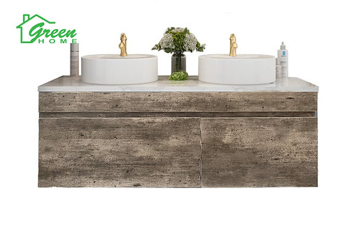 Wall-hung vanity with top counter basin W750/900/1200 mm Marble Grey
