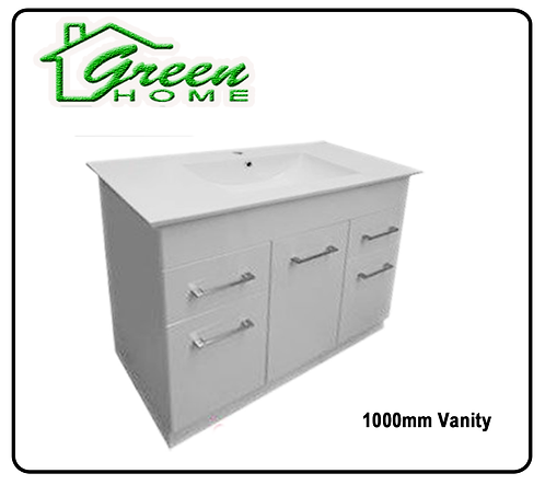 rectangle vanity soft close 1000mm