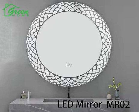 R600 Round LED Mirror - Artistic & Fashioned Design - MR02