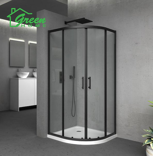 Black Frame Shower Glass Only - Curved Green Home