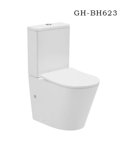 BH-623 Rimless Toilet-Full Back To Wall