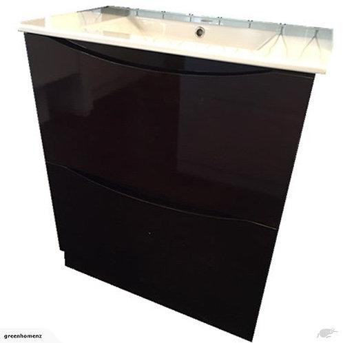 Dark wood vanity 1200mm wide single basin