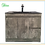 Thumbnail: Floor standing vanity with black basin 750/900/1200mm White Oak/Marble Grey