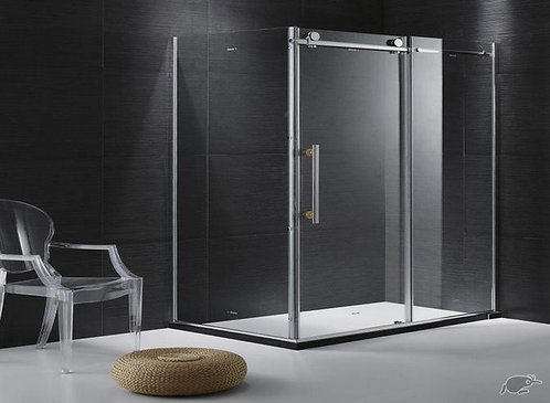Frameless shower slide door 1500mm