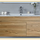 Thumbnail: Wall-hung vanity with ceramic basin w750/900/1200 mm white oak