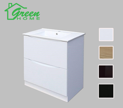 White Vanity 600mm wide floor standing
