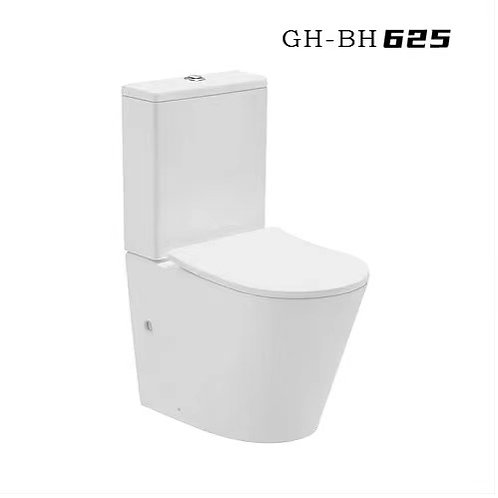 GH-625 Rimless Toilet-Full Back To Wall