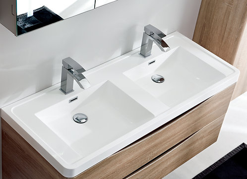 Floor Standing vanity 1200mm wide double basin