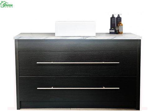Floor standing vanity with countertop basin 1200mm Black/Dark brown