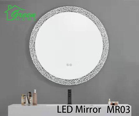 R600 Round LED Mirror - Artistic & Fashioned Design - MR03