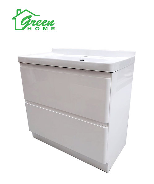 800 Glossy White Vanity With Deep Basin