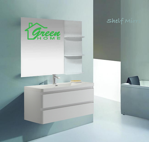 Shelf mirror-Brown color only