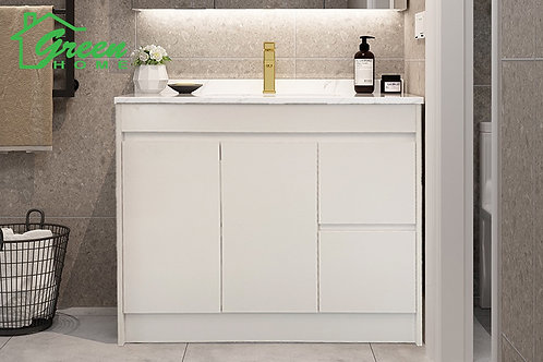 Floor Standing Plywood Vanity-W900mm- White #GHF-900
