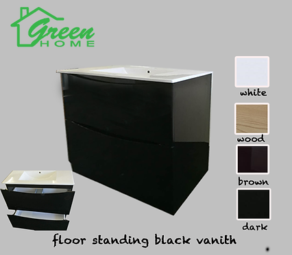 Black Vanity 900mm wide floor standing