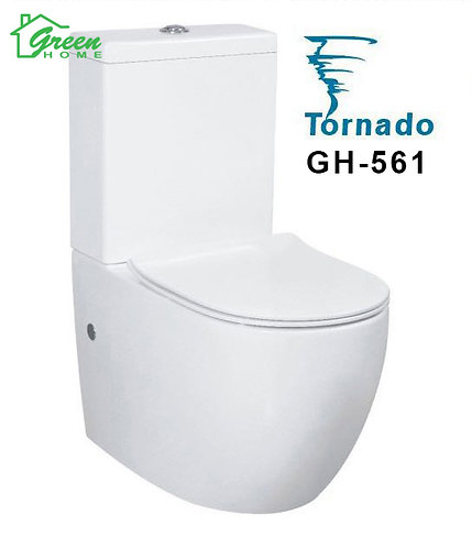 Tornado Toilet White Toilet GH561 Full Back to Wall (Green Home)