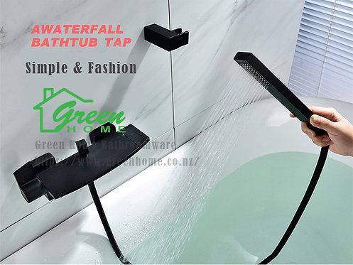 Wall-mounted waterfall bath spout-black-GH560B (Green Home)