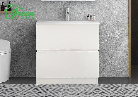 Slim Plywood Vanity - Floor Standing - White - 600/ 750 / 900 mm