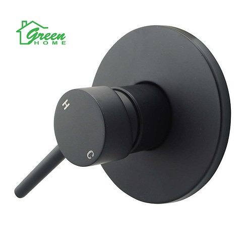 Black Round Shower Mixer-Matt Black Finish- Watermark- HD520B
