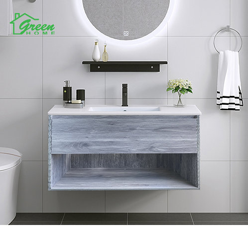 Wall-hung Plywood Vanity With Ceramic Basin W600/ 750/ 900/ 1200S/ 1200D