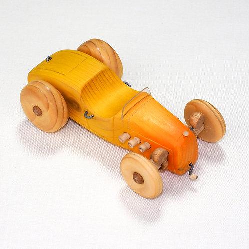Geel/oranje Hotrod  auto