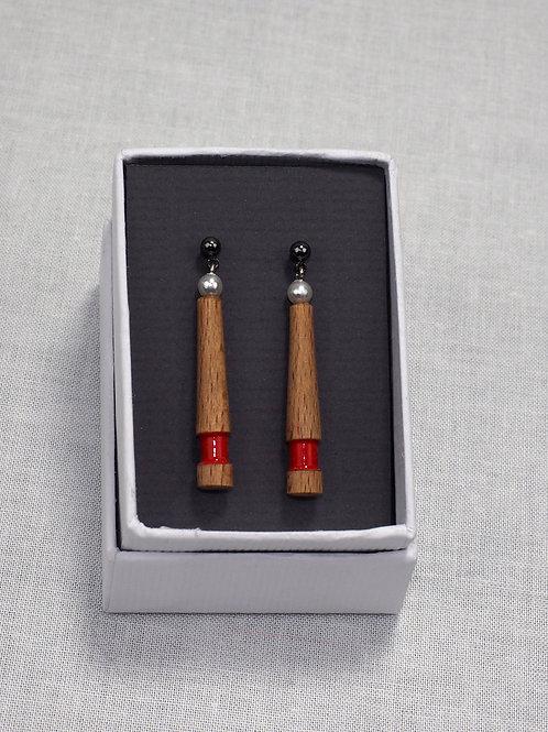 Handgemaakt houten oorstekers