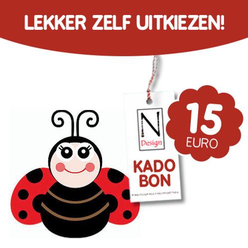 Kadobon van 15 euro