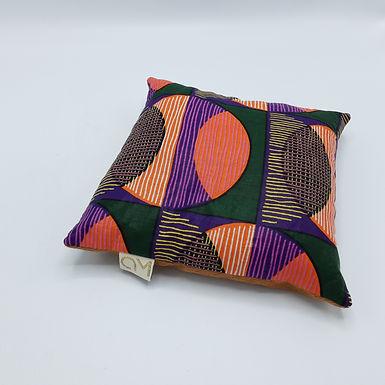 Coussin épeautre & lavande violet orange