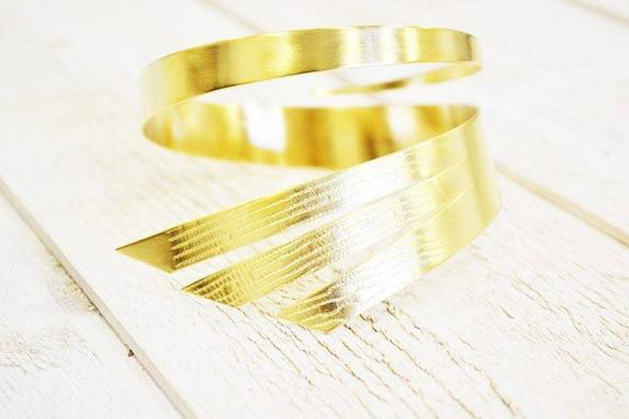 Manchette plaqué or