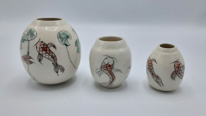Petits vases poisson