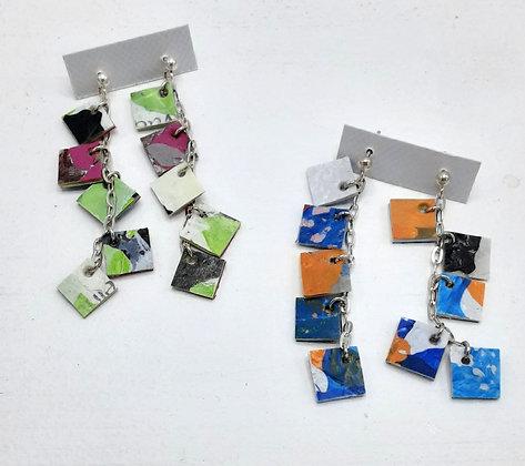 Boucles d'oreilles Little Things Matter (Mini-carrés)