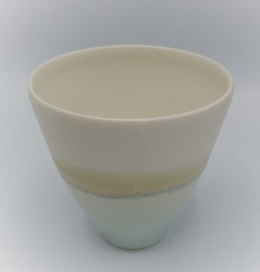 Mug céladon / blanc sucré