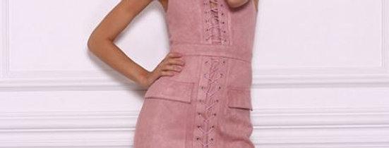 Suede Bandage Dress