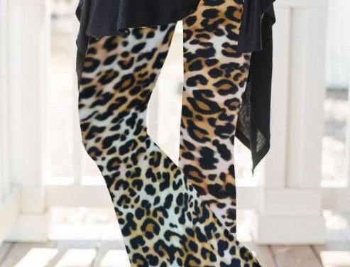 Leopard Print Flare Pants