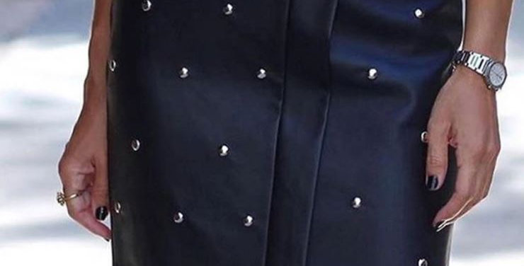 Leather Beaded Skirt