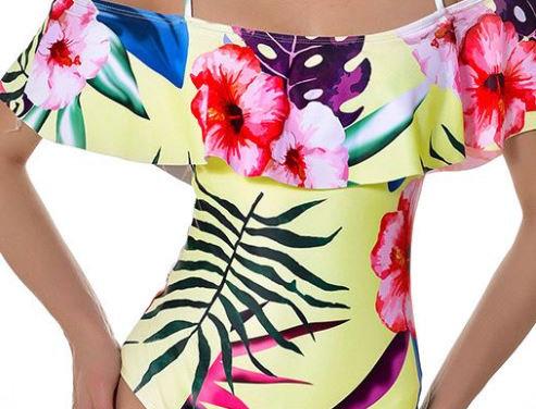 Safflower Print Swimsuit
