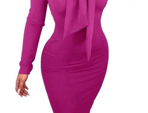 Purple Knee-Length Dress