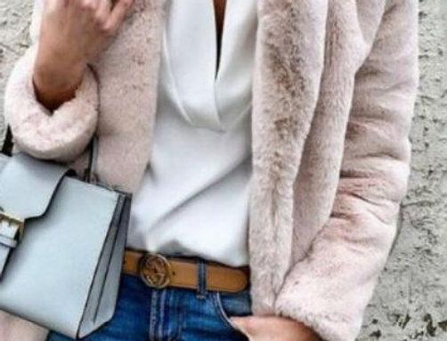 Fur Cardigan Blouse Coat