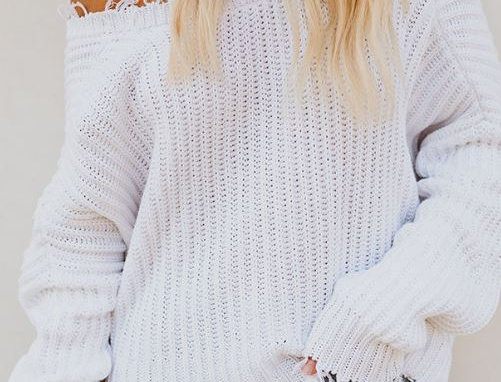 Loose Ripped Sweater