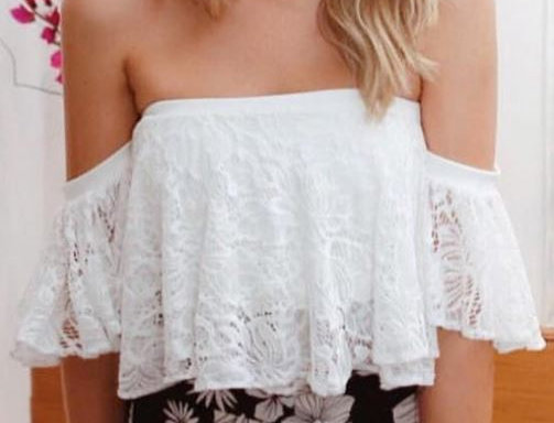 Shoulder Bag Lace Top