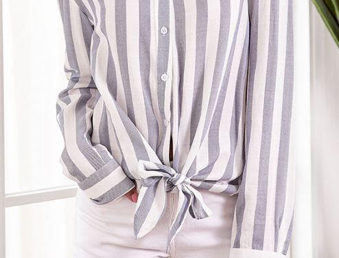 Buttoned Striped Shirt