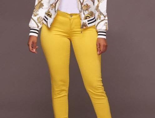 Best Selling Yellow Print Jacket